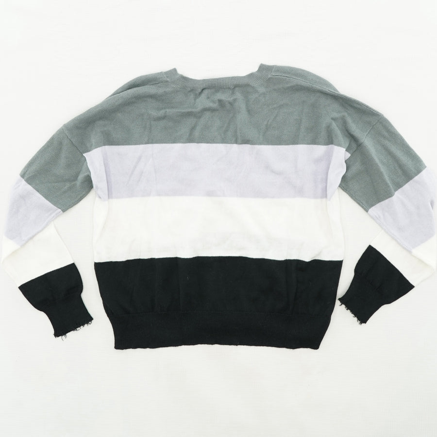 Color Block Cropped Sweater