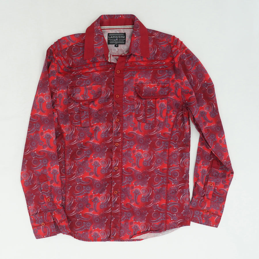 Paisley Button Down Size S