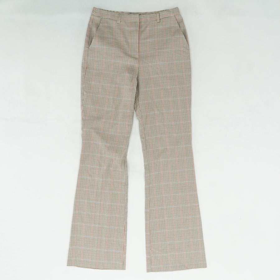 Multi Color Plaid Trousers Size 6