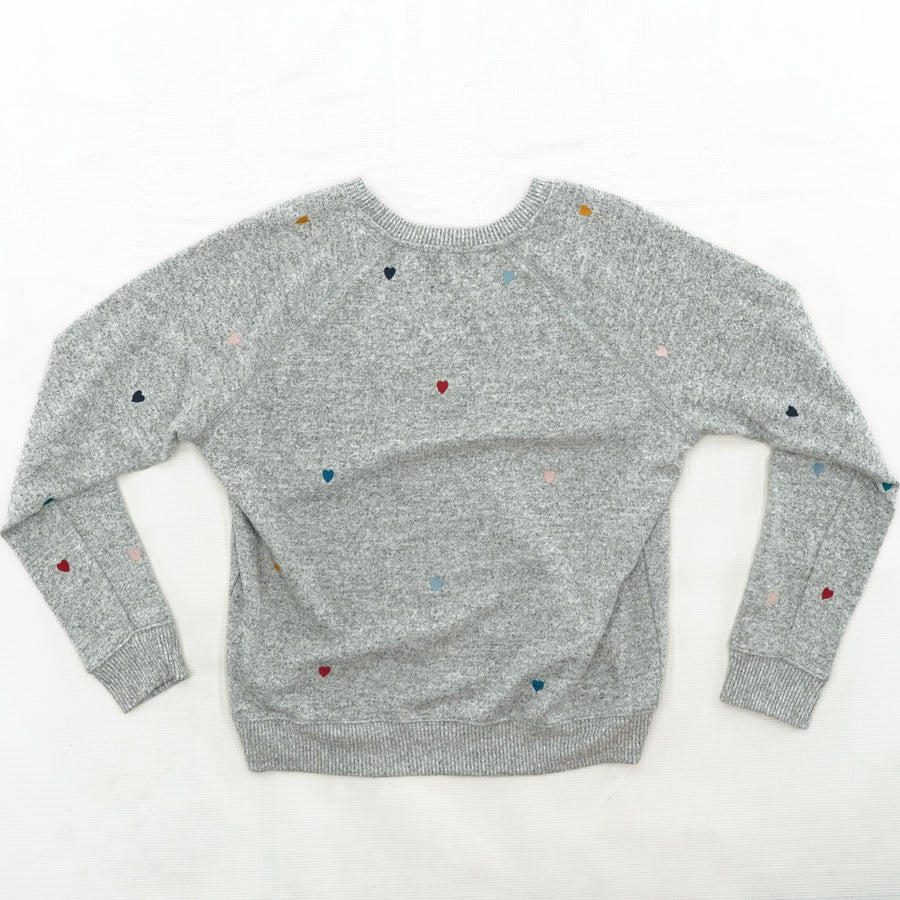 Gray Heart Sweater Size M