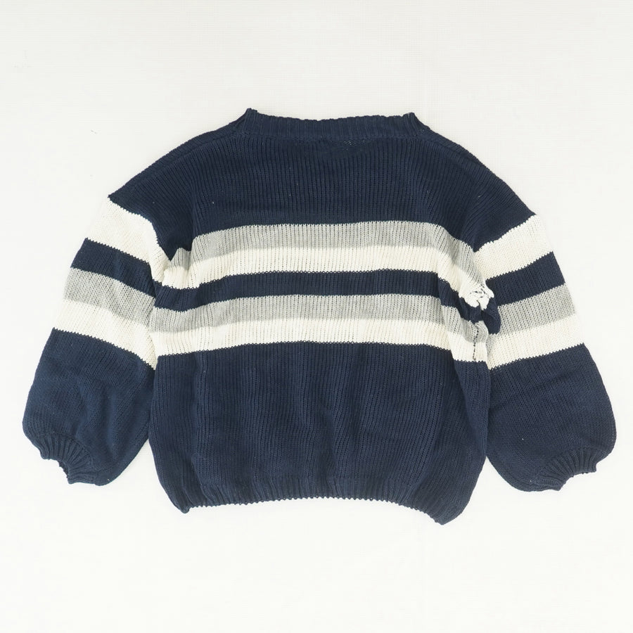Knitted Striped Sweater Size M/L