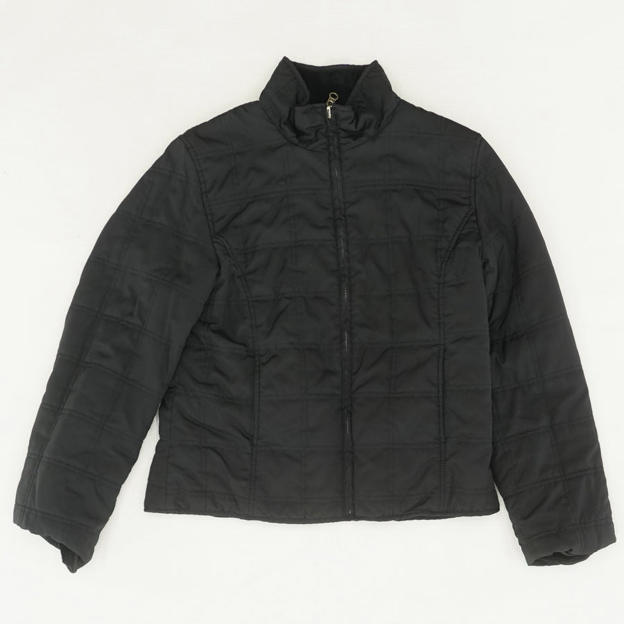 Quilted Fleece Lined Jacket Size M