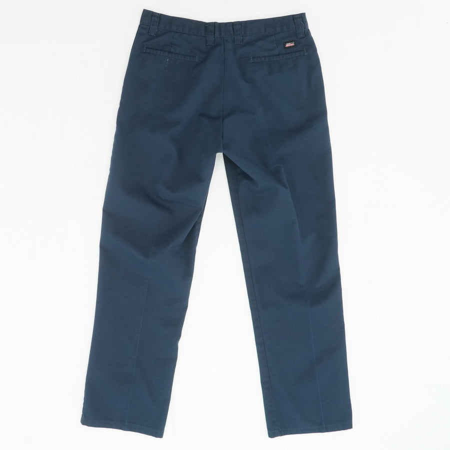 Navy Straight Leg Slacks Size 34W 33L