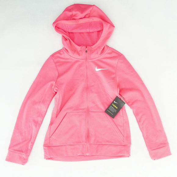 Pink Solid Full Zip Jacket Size M