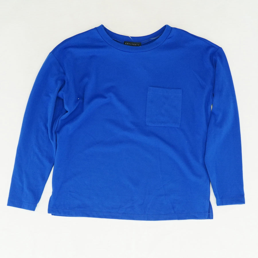 Blue Sweater With Front Pocket