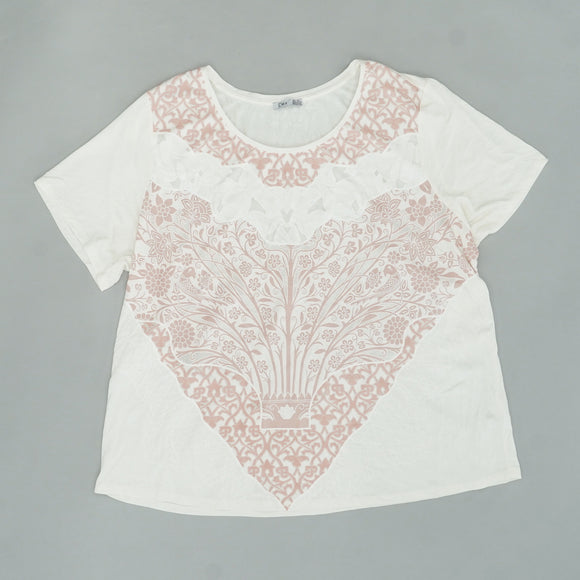 Flowered Graphic Tee Size 3XL