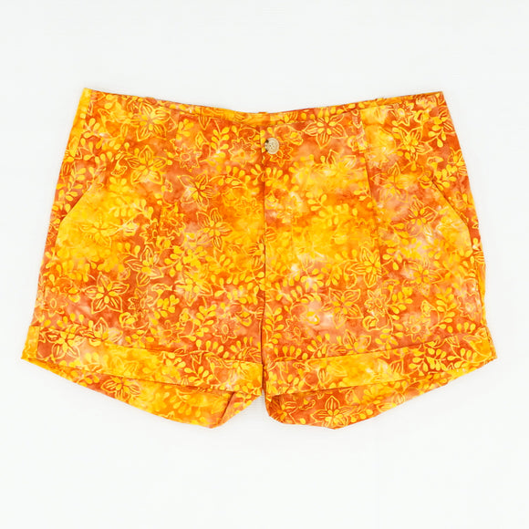 Rachel Shorts Orange Batik Size 6