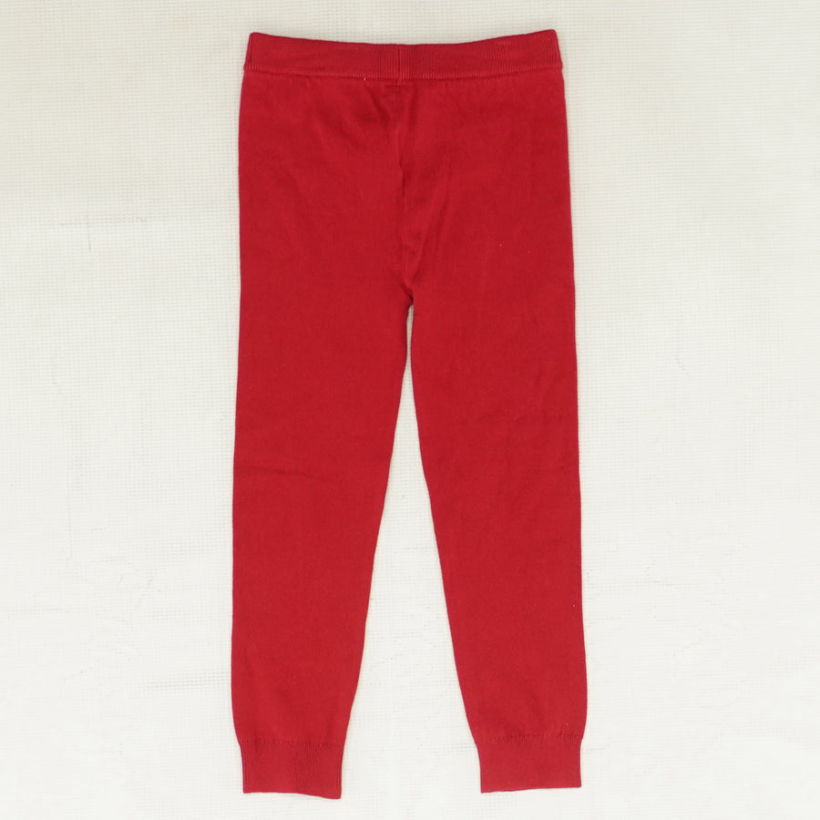 Red Knit Sparkly Star Leggings Size 4