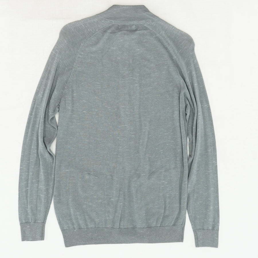 Smooth Silver Trans Table Full Zip Sweater