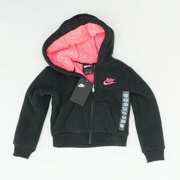 Black Logo Full Zip Jacket Size 3T
