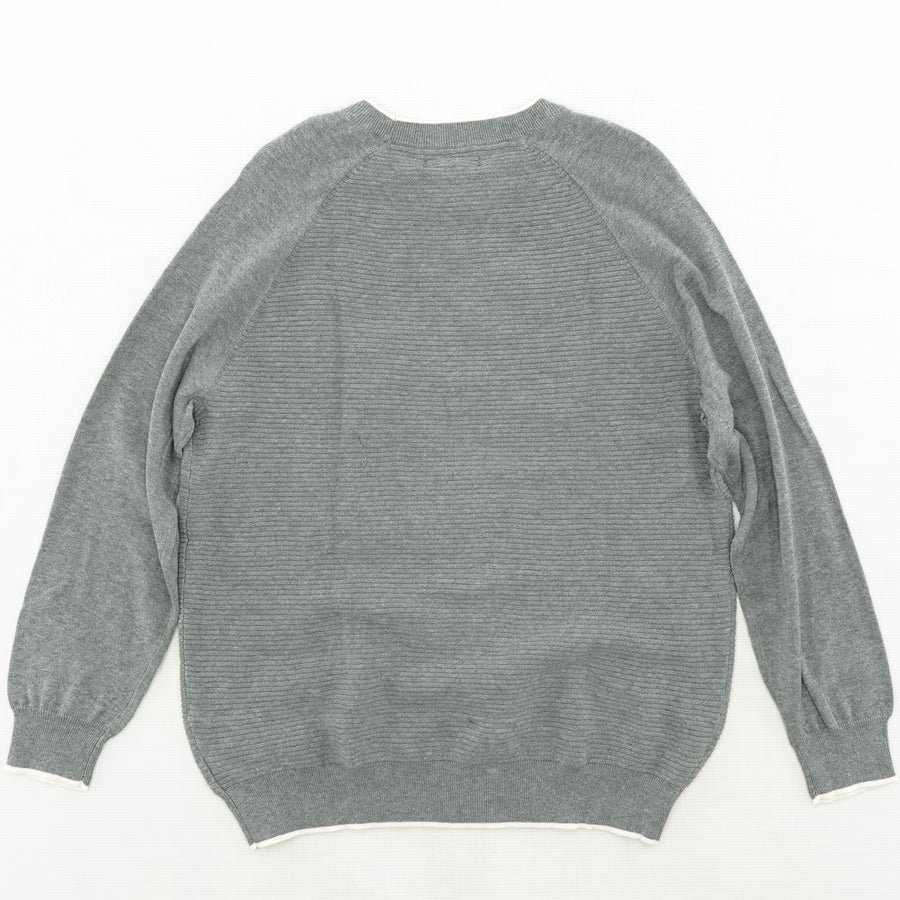 Gray Ribbed Pullover Size XL