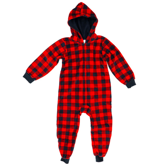 Hooded Fleece Full Zip Onesie Size S