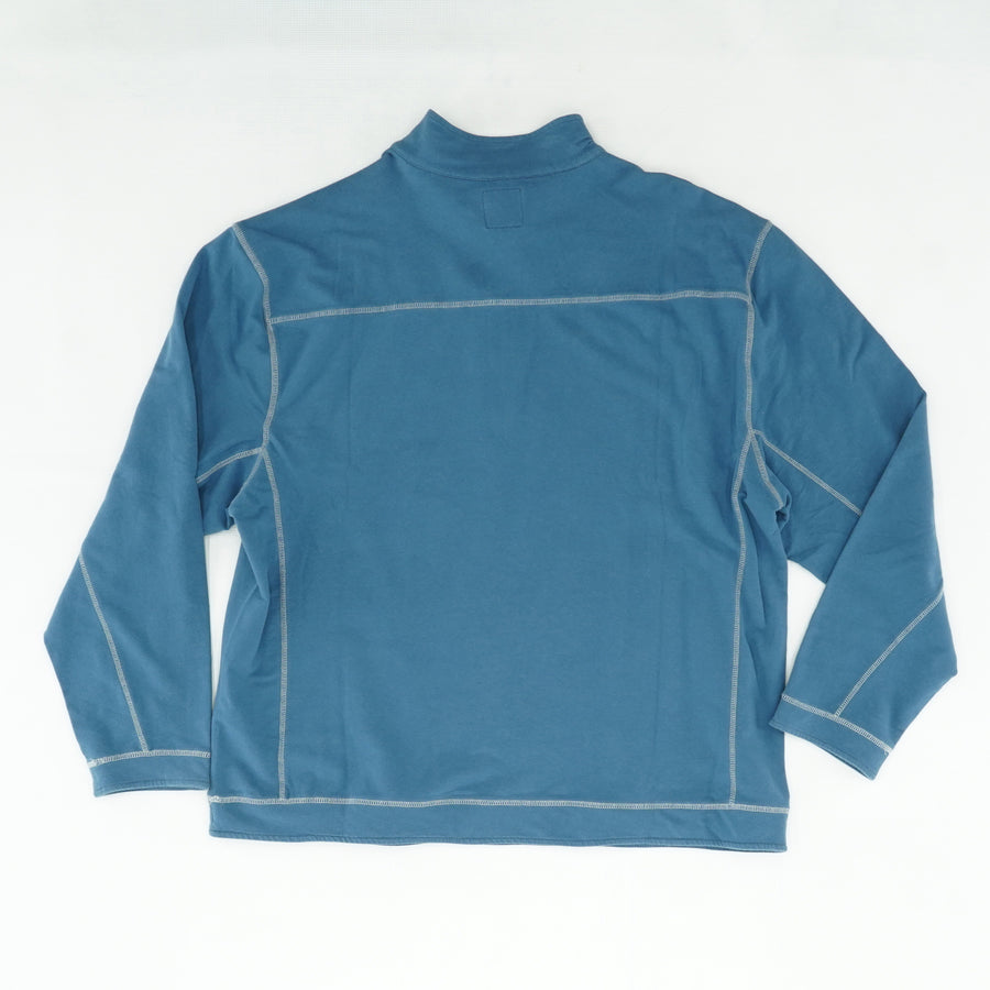 Teal Solid Half Zip Pullover Size 2X