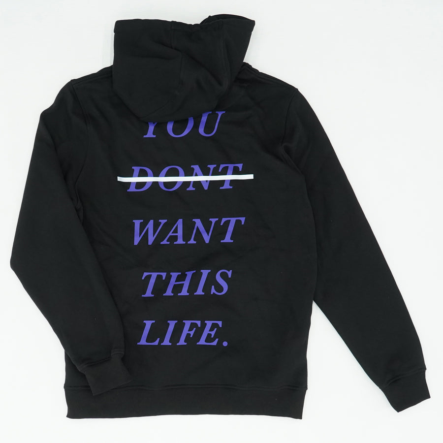 You Don't Want This Life Graphic Hoodie Size L