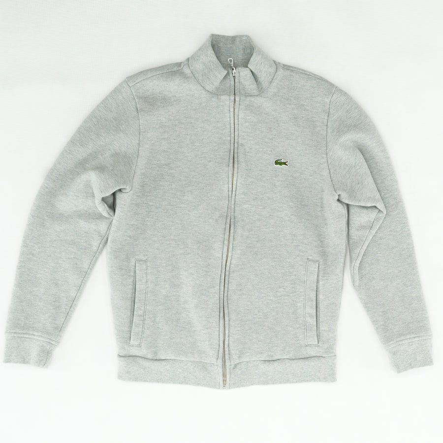 Gray Solid Full Zip Jacket Size S