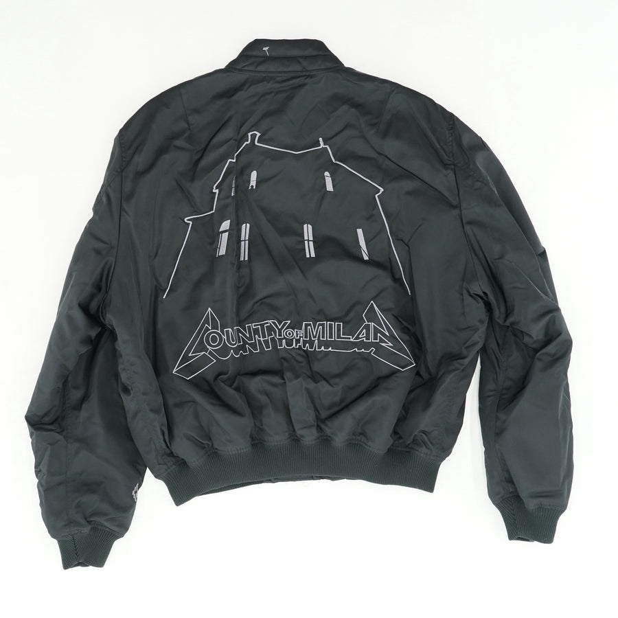 Black Ghost House Bomber Jacket Size L