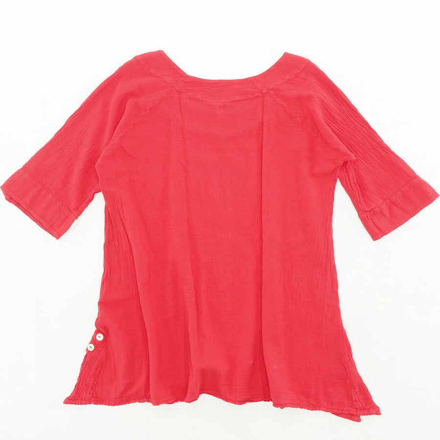 Red Casual Blouse Size 1