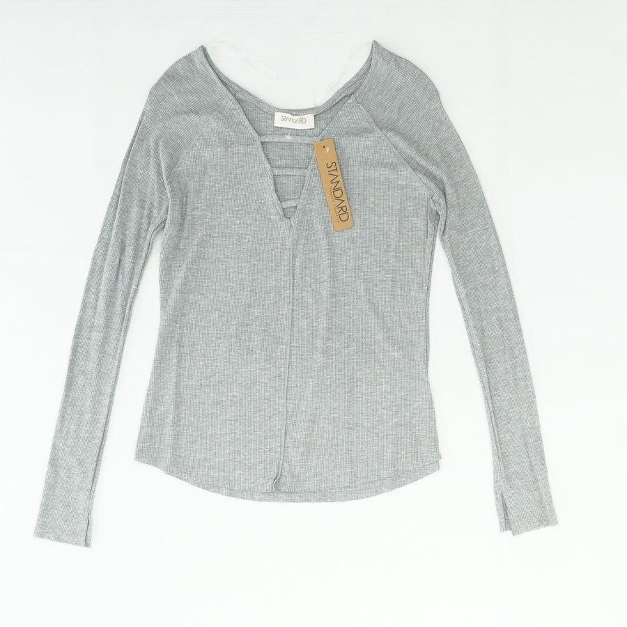 Lynx Knit Top in Lt. Grey