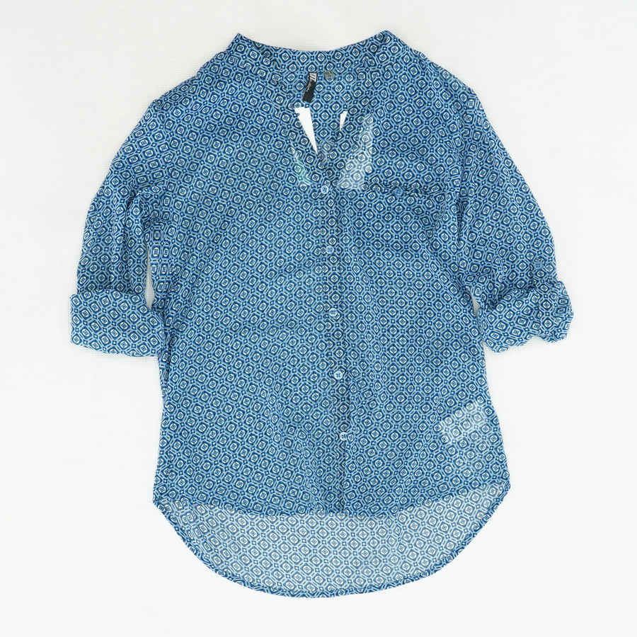 Blue Detailed Button Down Size XS