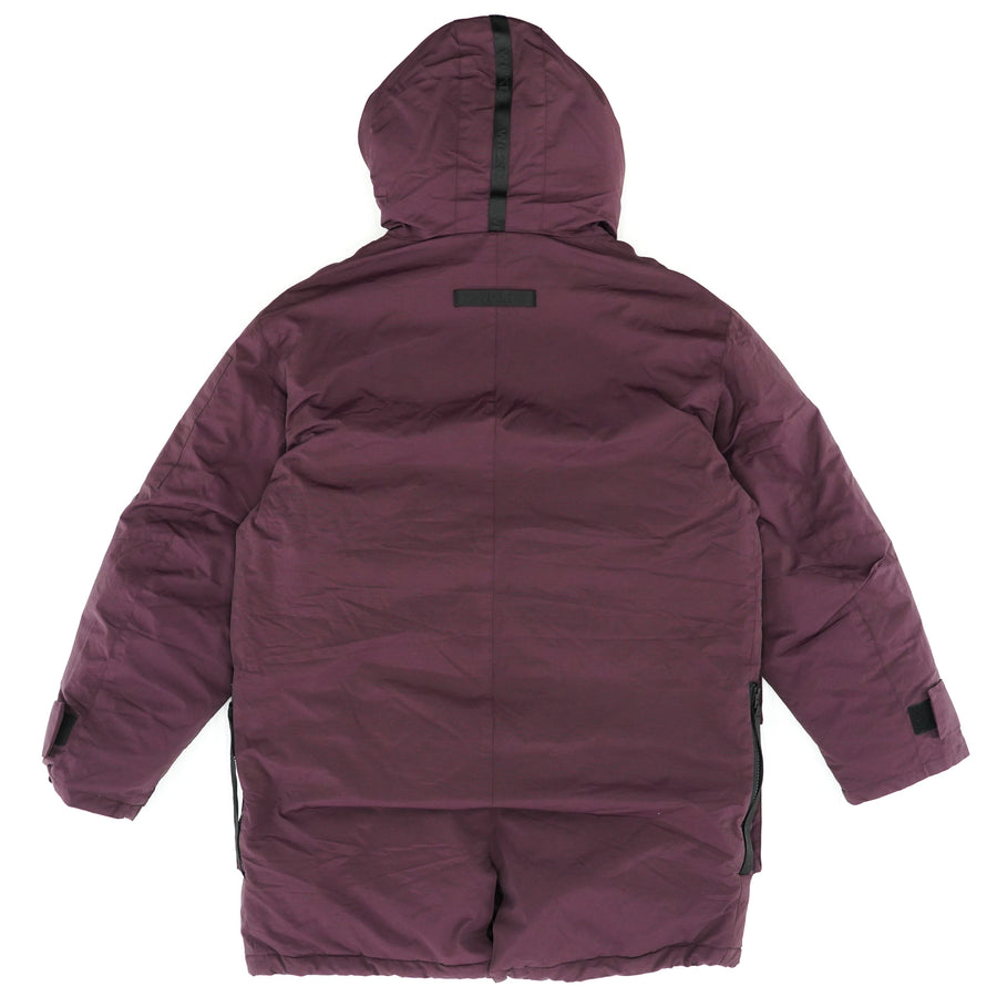 All Weather Insulated Hooded Parka Size XXL-Burgundy