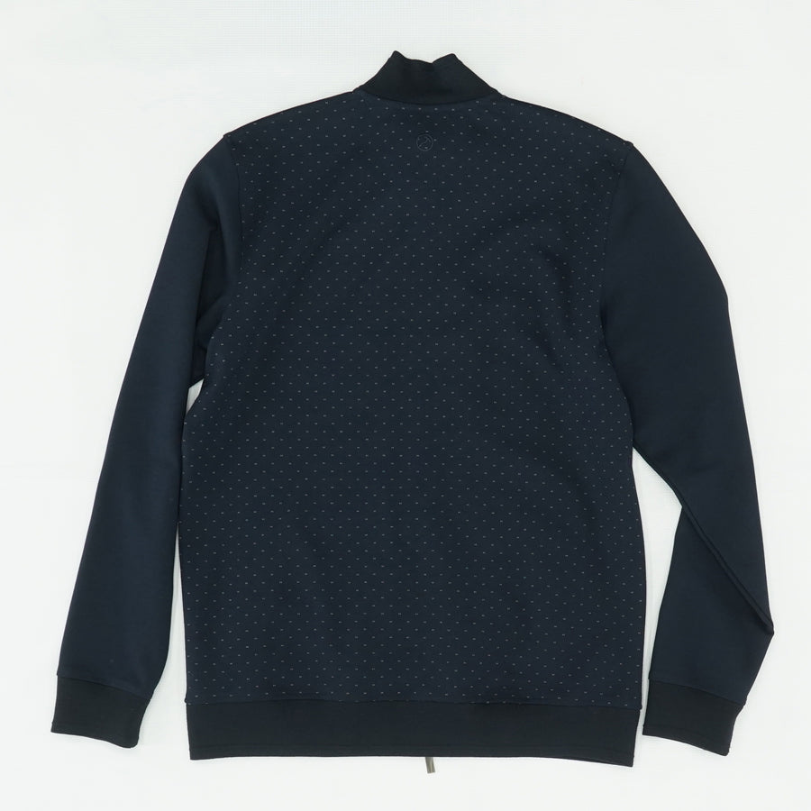 Navy Full Zip Dotted Jacket Size L