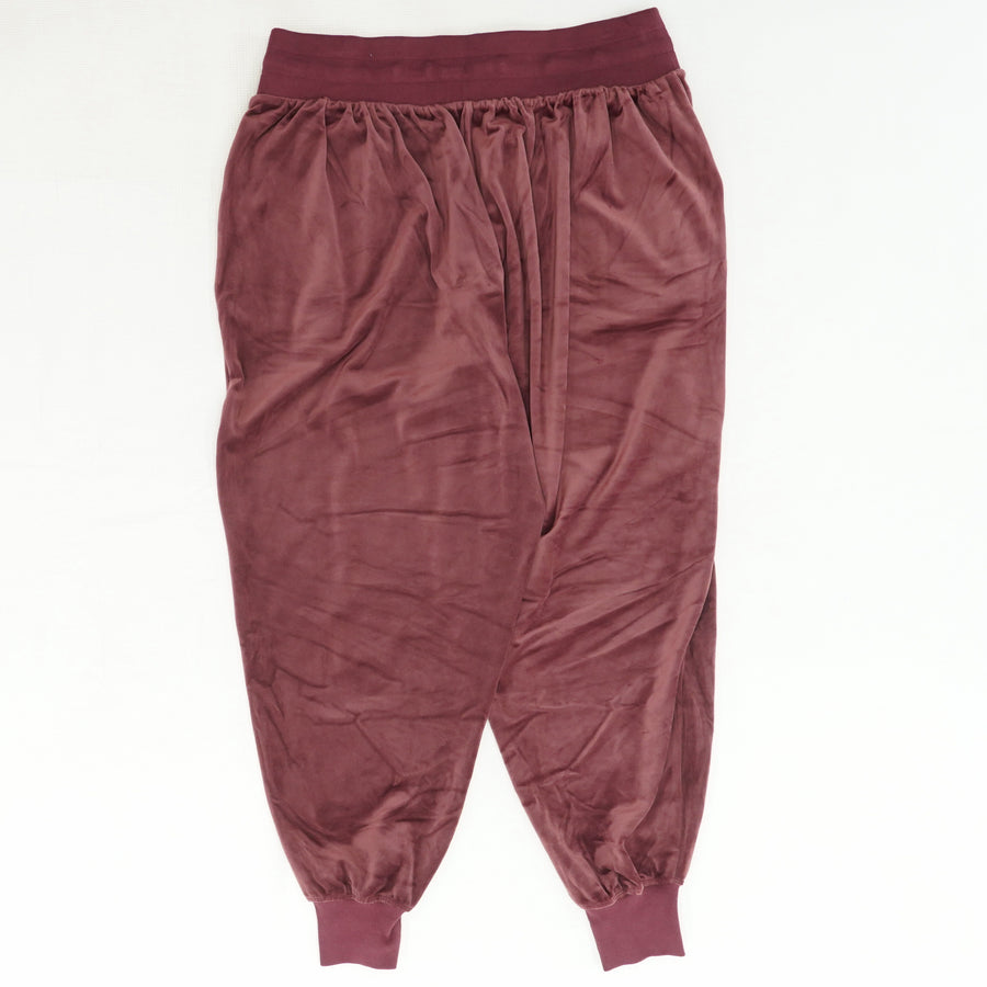 Metro Velour Plum Jogger Pants