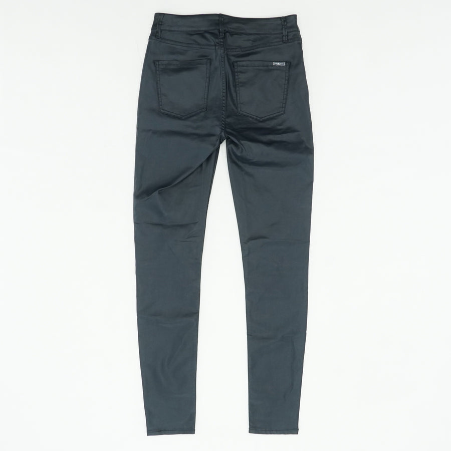 High Rise Coated Skinny Pants Size 2L