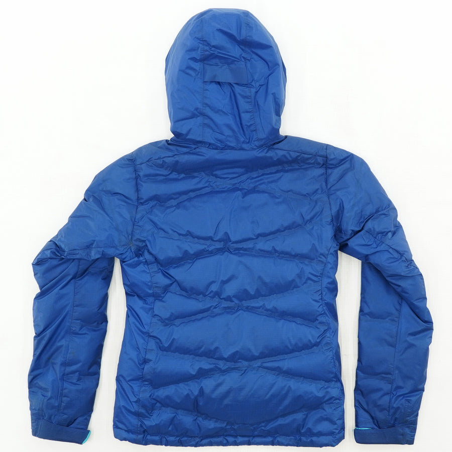 Blue Puffer Zip Up Jacket Size S