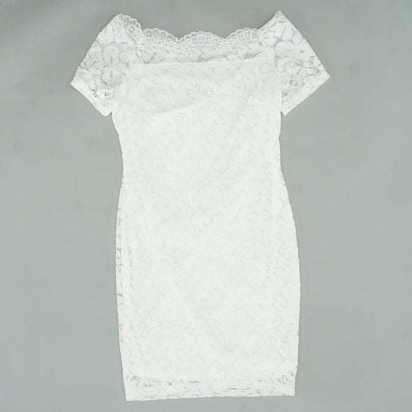 Lined Lace Off The Shoulder Dress Size L