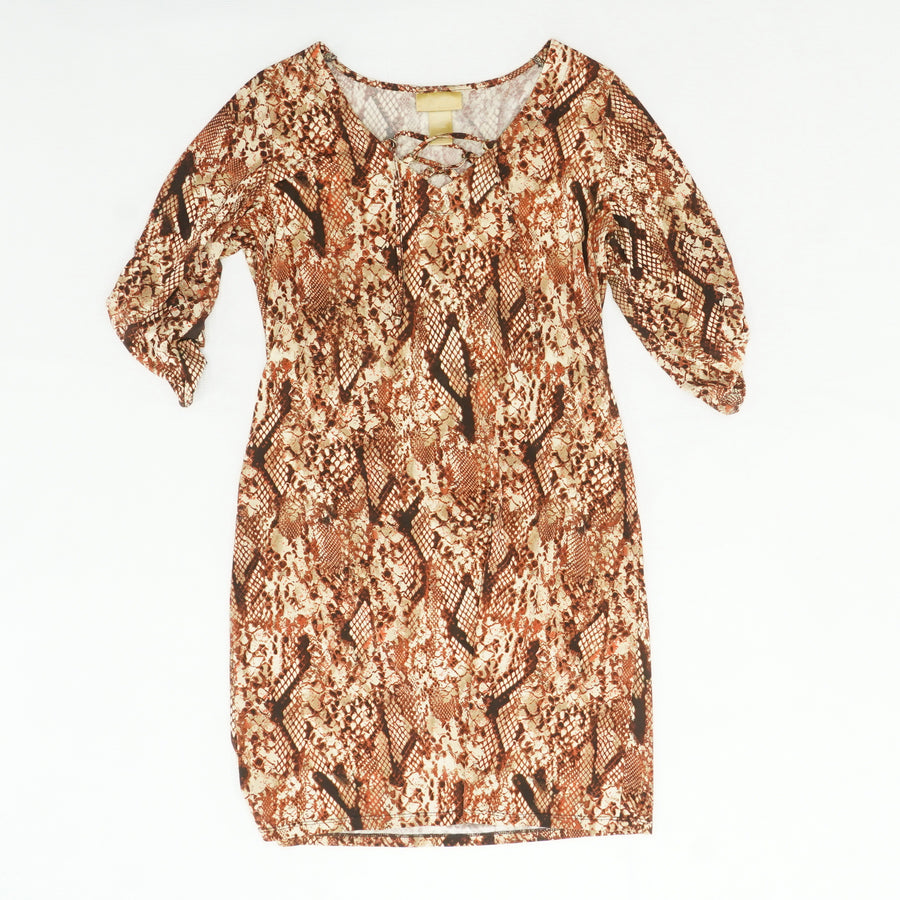 Brown Snake Print Dress Size M