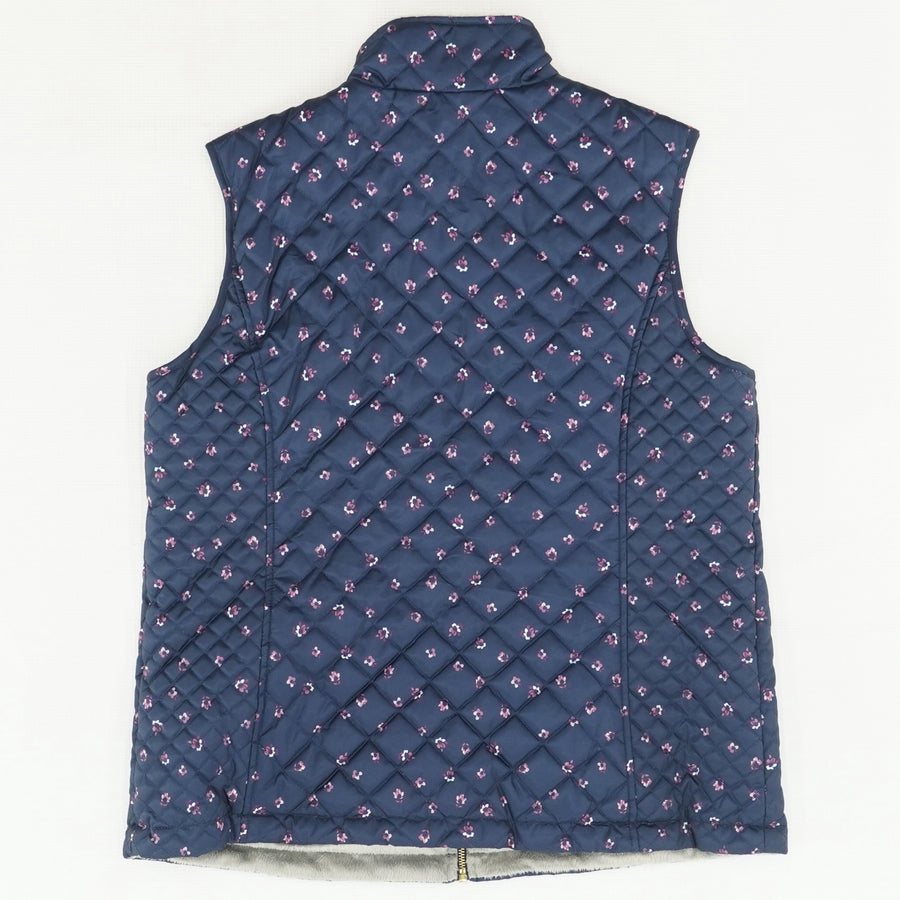 Navy Diamond Quilted Vest Size L