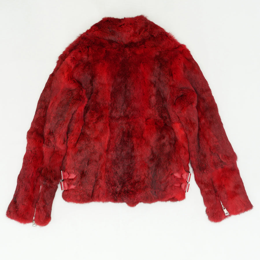 Rabbit Fur Bomber Jacket Size L