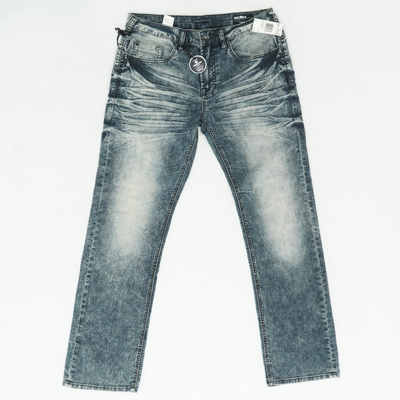 Vintage And Sanded Straight Stretch Jeans