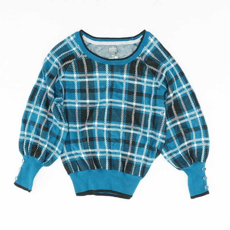 Plaid Sweater Size M