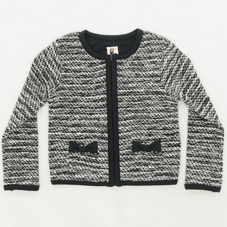 Child's Full Zip Long Sleeve Sweater Size 4