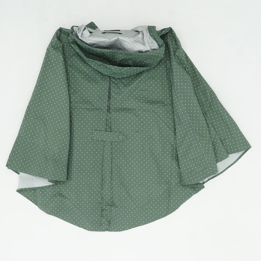 Green Polka Dot Packable Poncho Size OS
