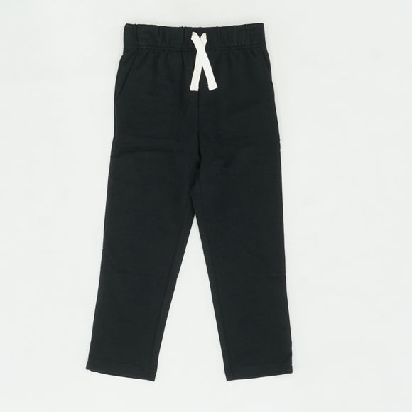 Black Solid Sweatpants Size 6