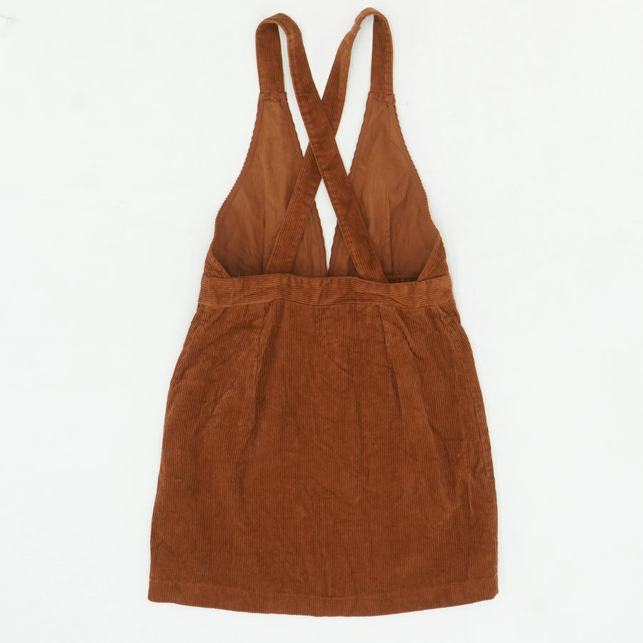 Burnt Orange Corduroy Overall Dress Size 3