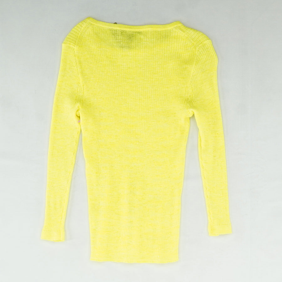 Lime Textured Sweater Size S