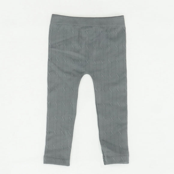 Gray Solid Leggings Size 12M