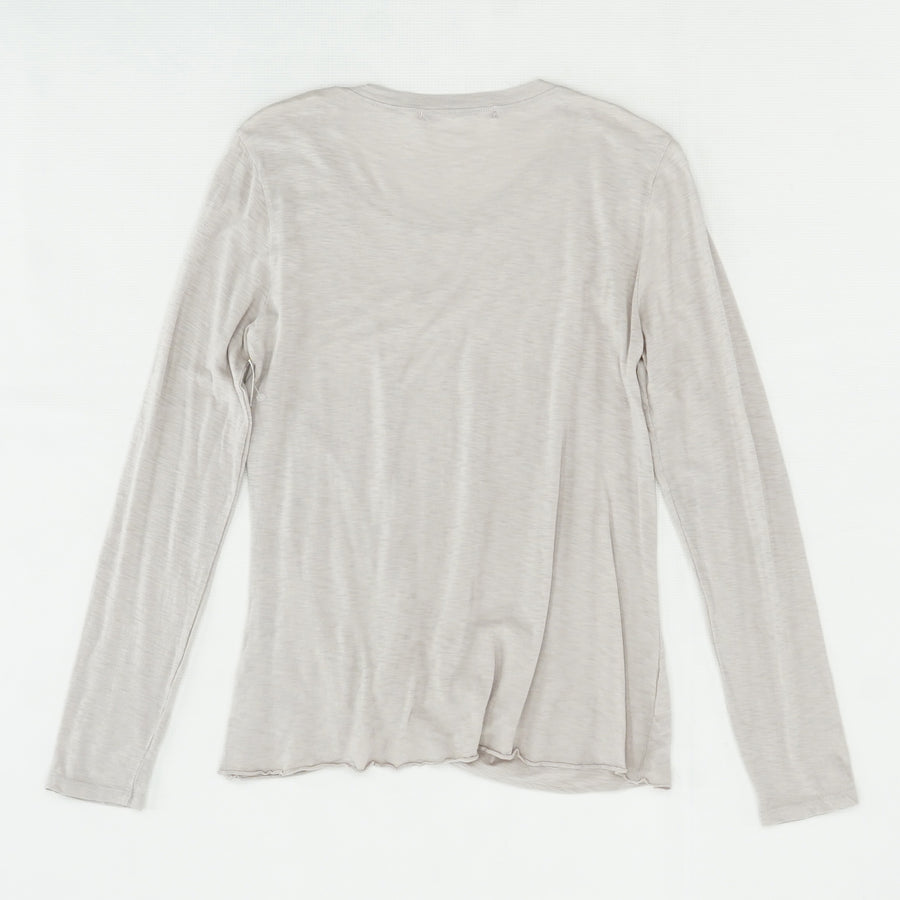 Bottom Rouched Long Sleeve Blouse Size OS