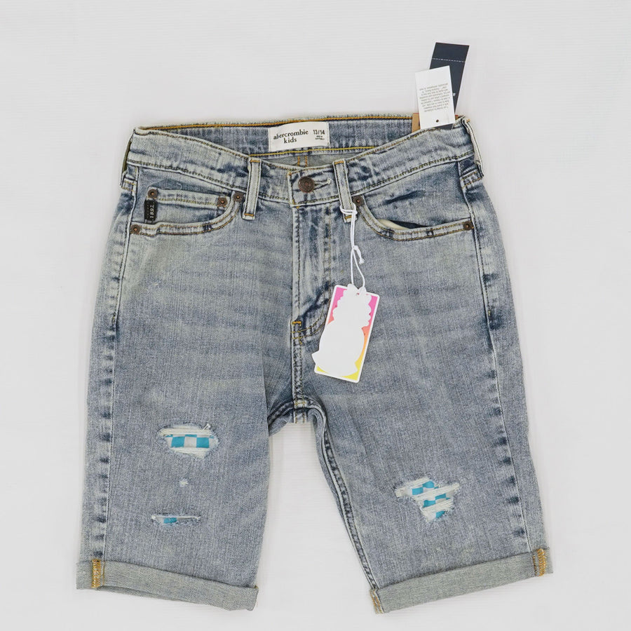 X Giuliana + Duke Denim Destroyed Patched Knee Length Shorts Size 13/14