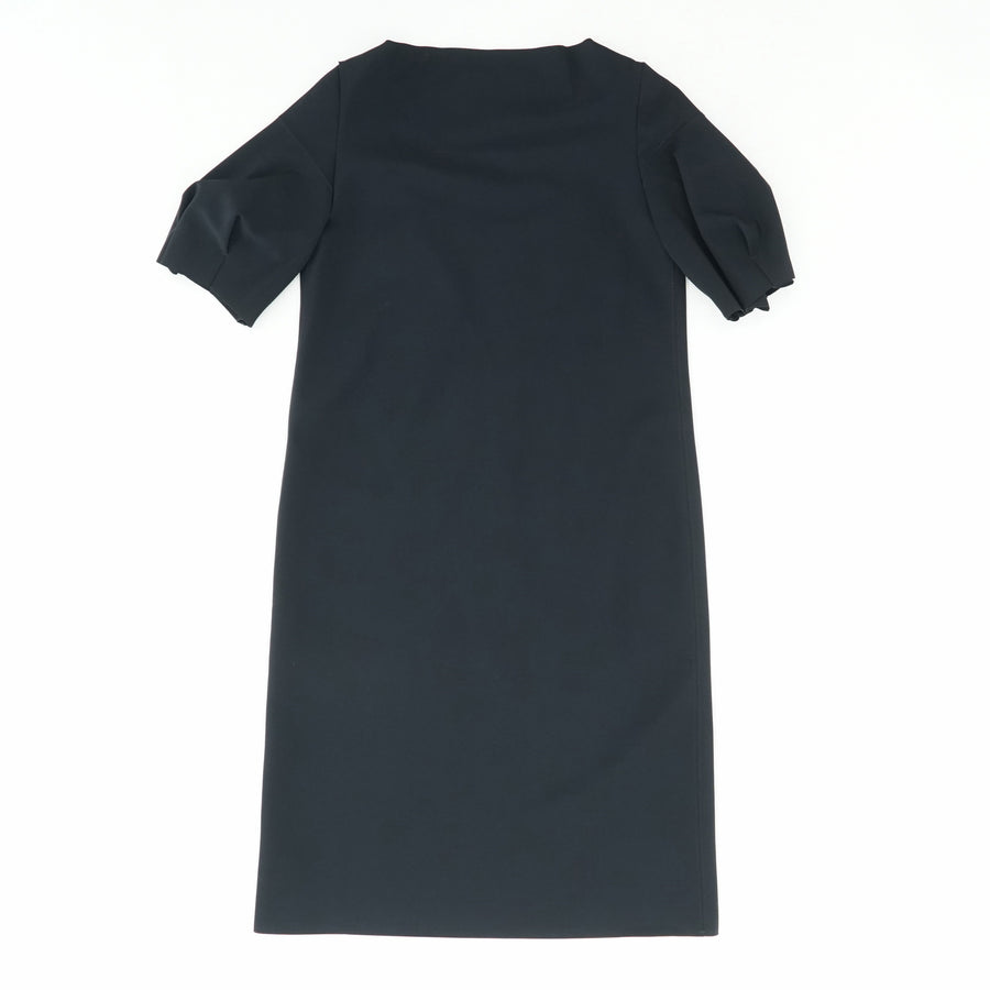Puckered Sleeve Navy Dress Size M