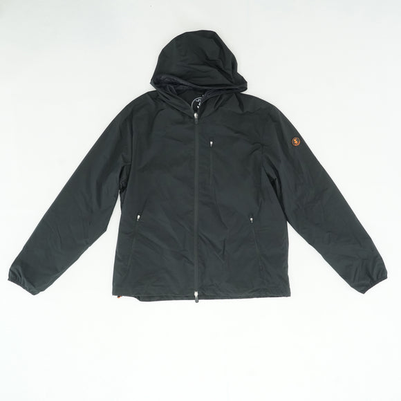 Black Rain Jacket With Bag