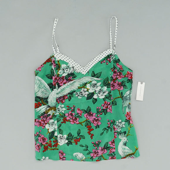 Anthropologie Floral Green Layla Sleep Cami Size S