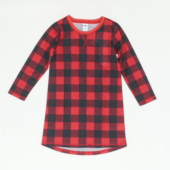 Red Plaid Blouse Size 4T