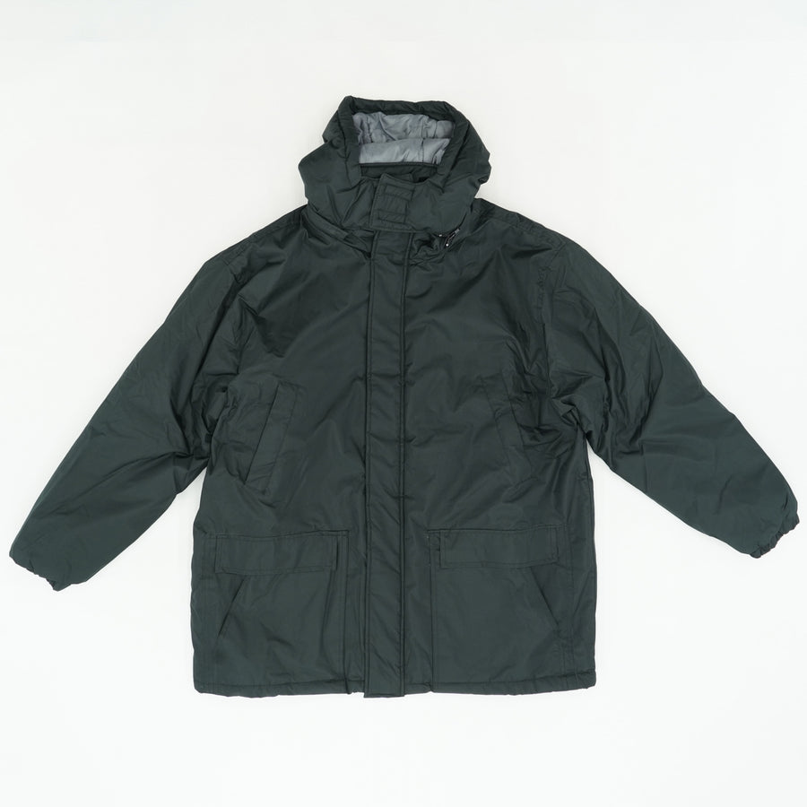 Black Hooded Puffer Jacket Size XL