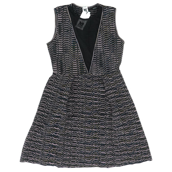 Illusion Inset Space Dye Knit Dress Size 42