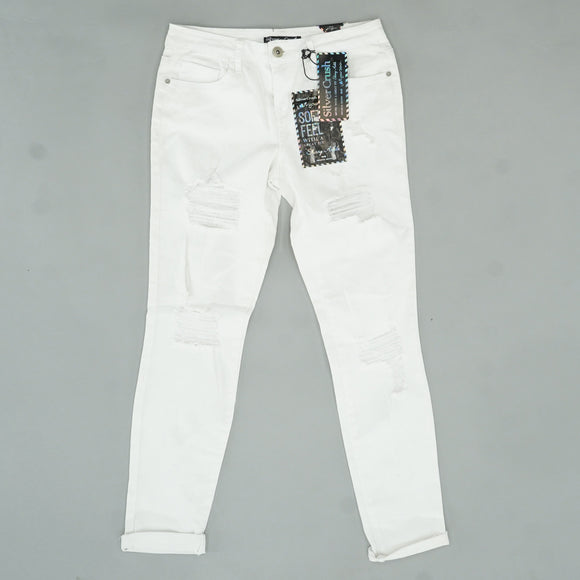 White Skinny Ankle Jeans Size 34