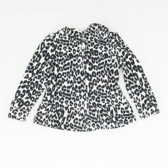 Leopard Print Fleece Jacket Size 4